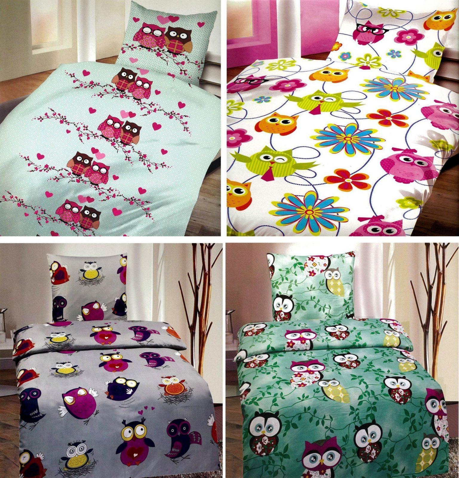 Eulen Bettwaesche Set  Dibinekadar Decoration von Eulen Bettwäsche 135X200 Bild