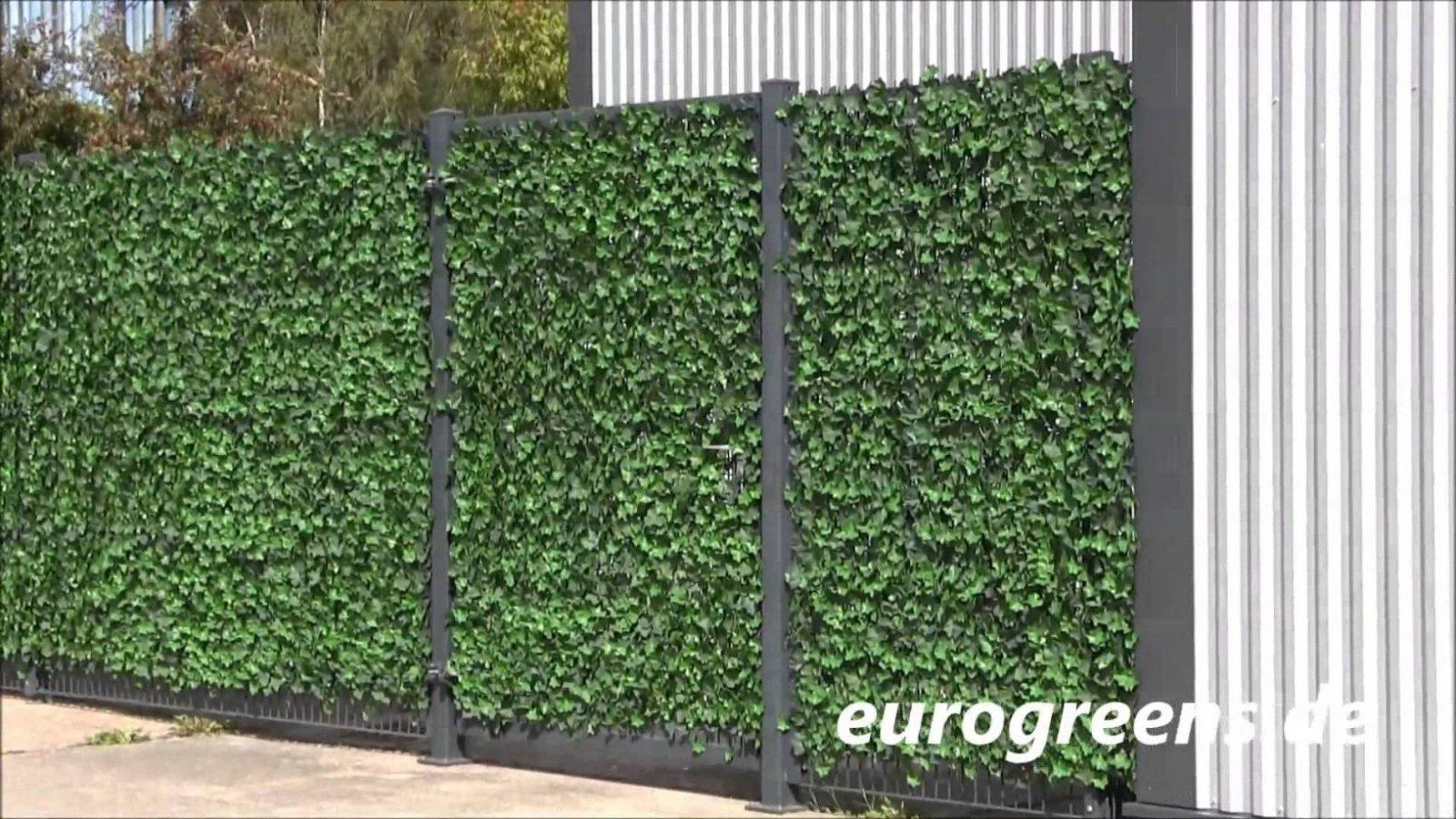 Eurogreens Kunstpflanzen Efeuhecke  Youtube von Hecke Am Laufenden Meter Selber Machen Bild
