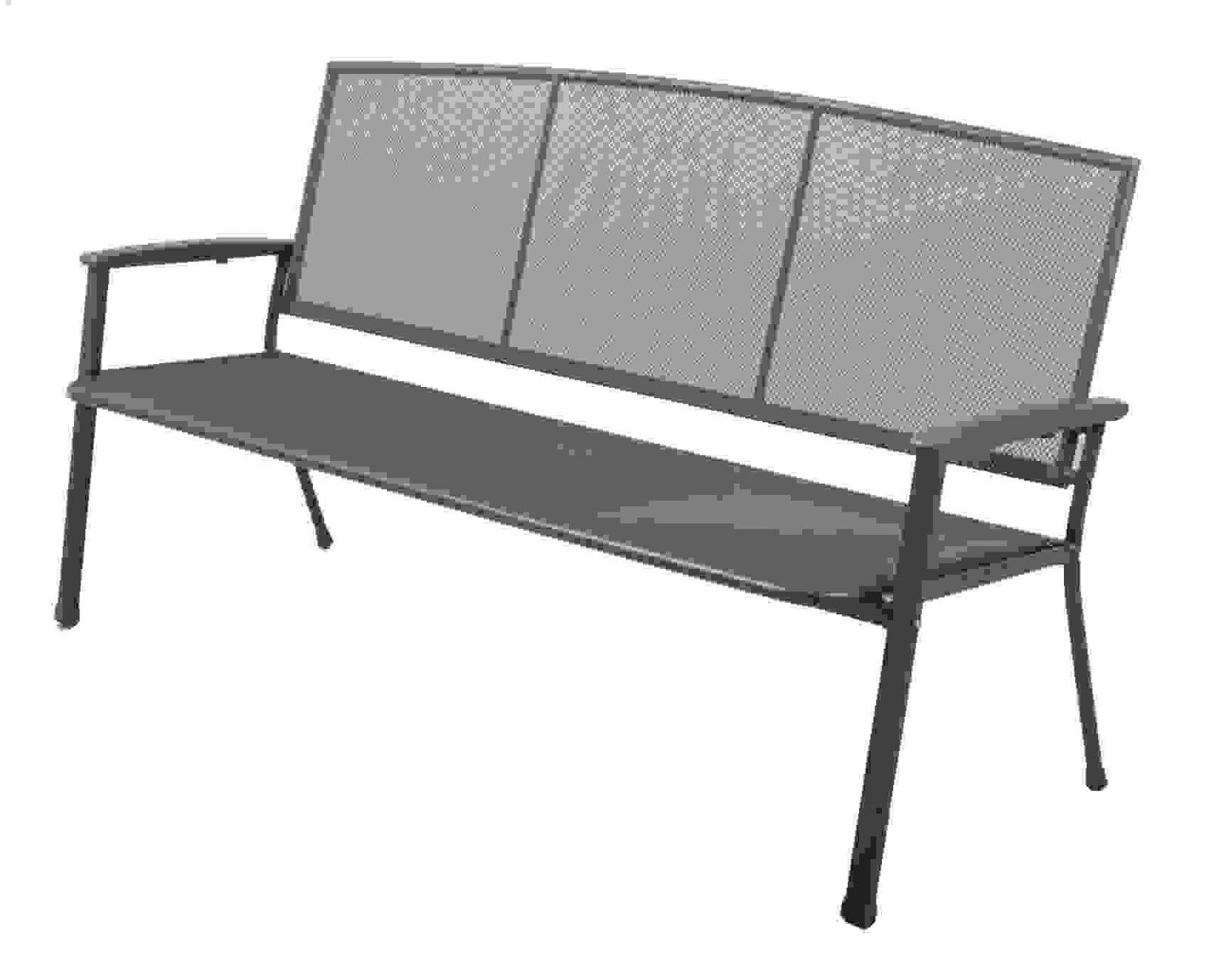 Exclusive Gartenbank Rivo 3 Sitzer Aus Metall Streckmetall Schema von Gartenbank 3 Sitzer Metall Photo