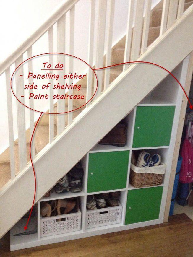 Expedit Understairs Storage  Treppe Ikeaideen Und Unter Der Treppe von Regal Für Unter Die Treppe Photo