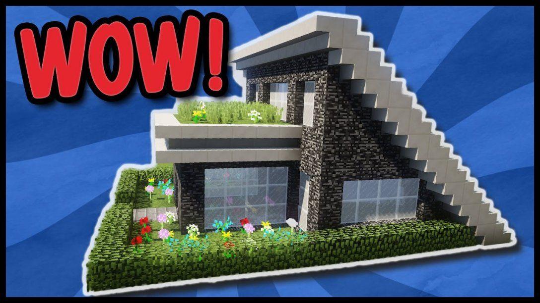 Minecraft modernes haus holz wei gr n bauen for Minecraft modernes haus nachbauen