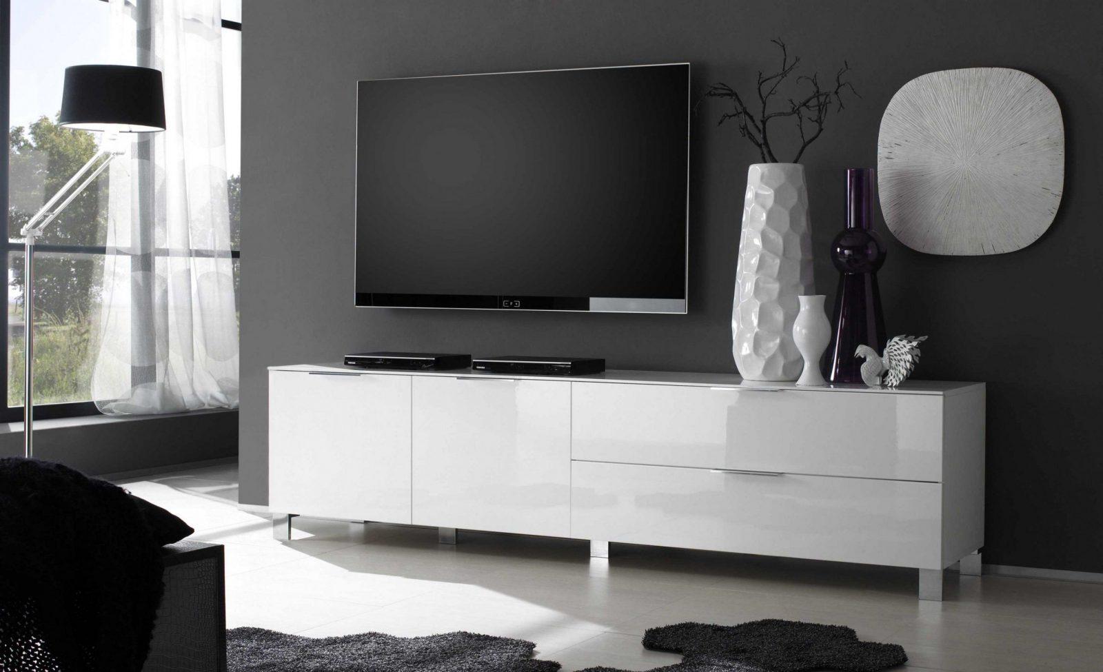 Fabelhaft Lowboard Weiß Hochglanz 3M Zum Wohnzimmer Lowboard von Lowboard Weiß Hochglanz 3M Photo