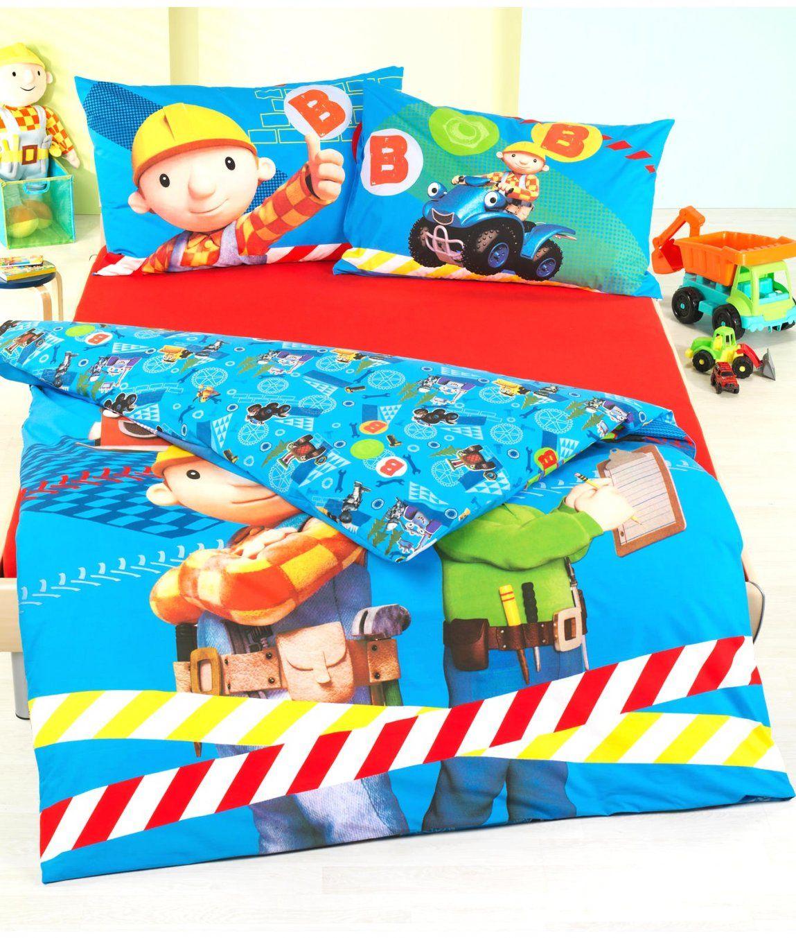 Fabulous Inspiration Bob Der Baumeister Bettwäsche Und Schöne Kinder von Bob Der Baumeister Bettwäsche 135X200 Bild