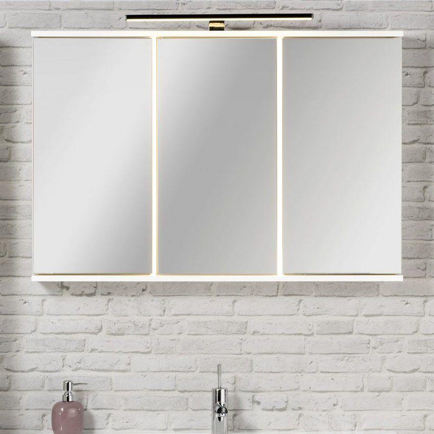 Fackelmann Rondo Spiegelschrank 1005 X 68 Cm Mit Led Beleuchtung von Spiegelschränke Mit Led Beleuchtung Bild