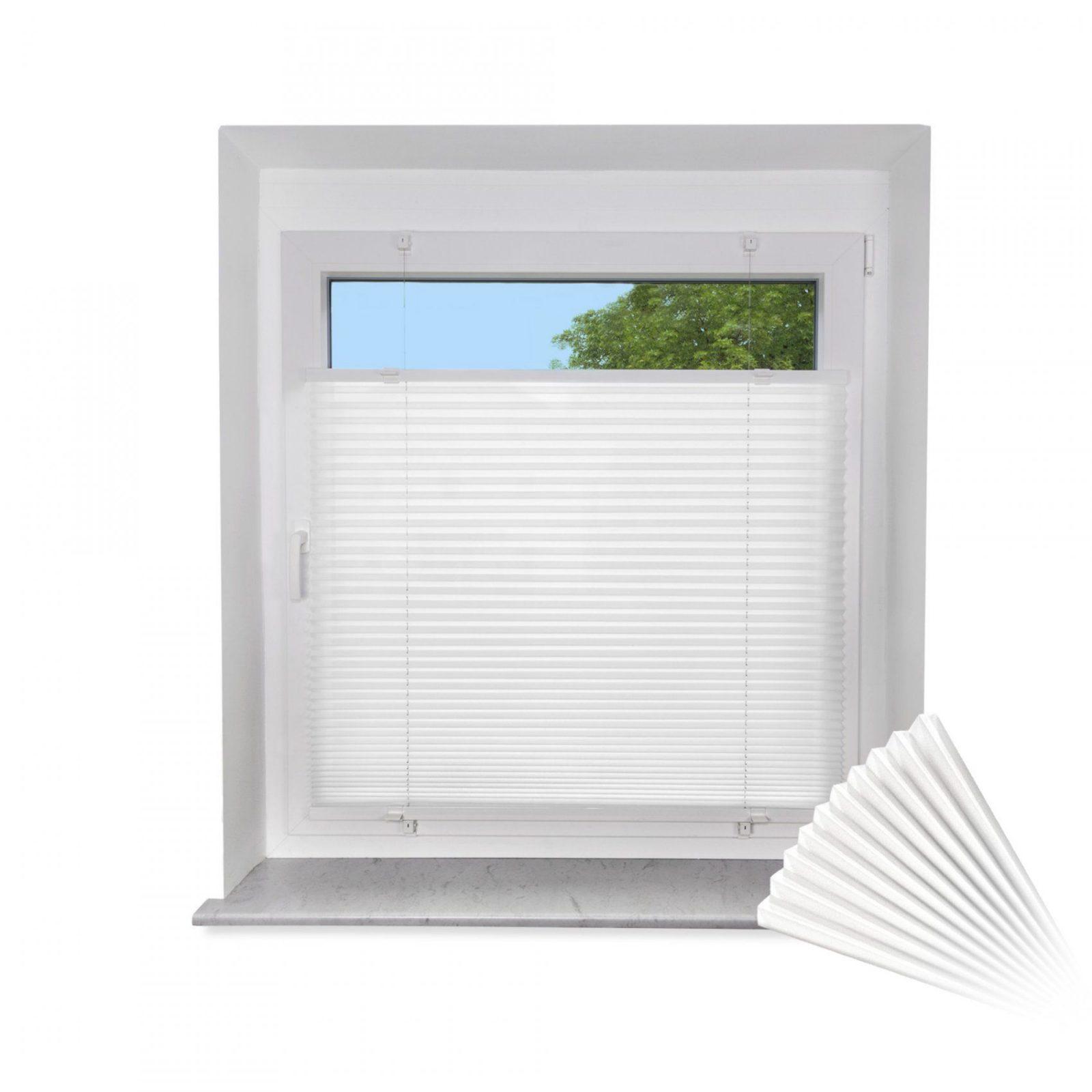 Faltrollo Im Fensterrahmen  Icnib von Balkontür Rollo Zum Kleben Bild