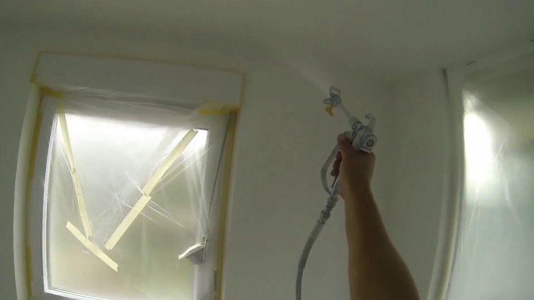 Farbe Spritzen Wände Und Decke Streichen War Gestern Heute Airless von Holzdecke Weiß Streichen Sprühen Photo