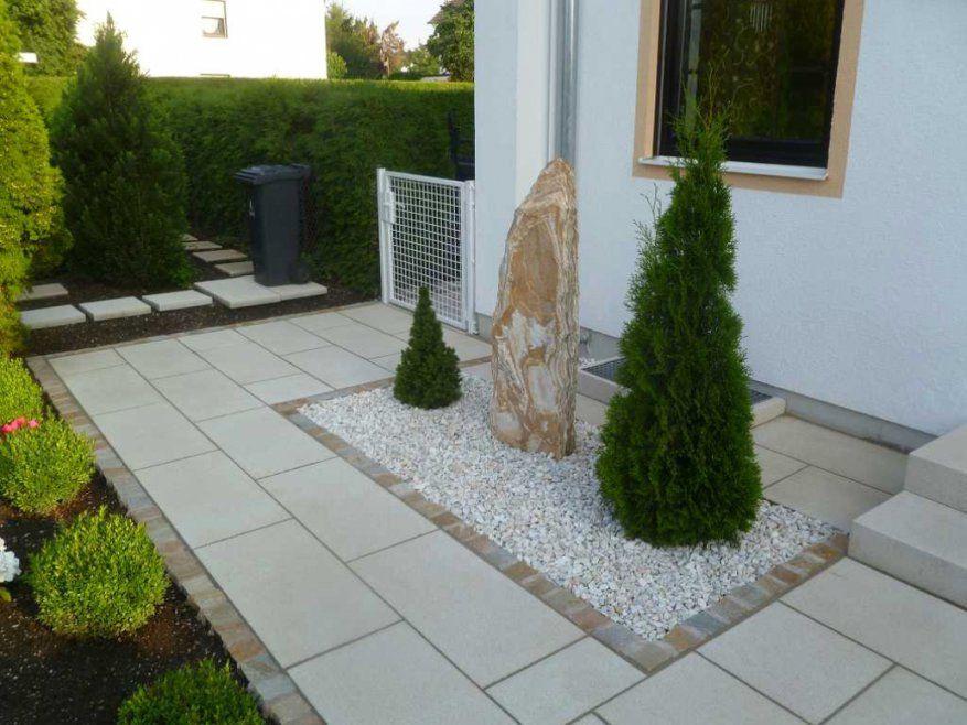 Faszinierend Gartengestaltung Mit Steinen Und Kies Vorgarten Mit von Gartengestaltung Mit Steinen Und Kies Bilder Bild