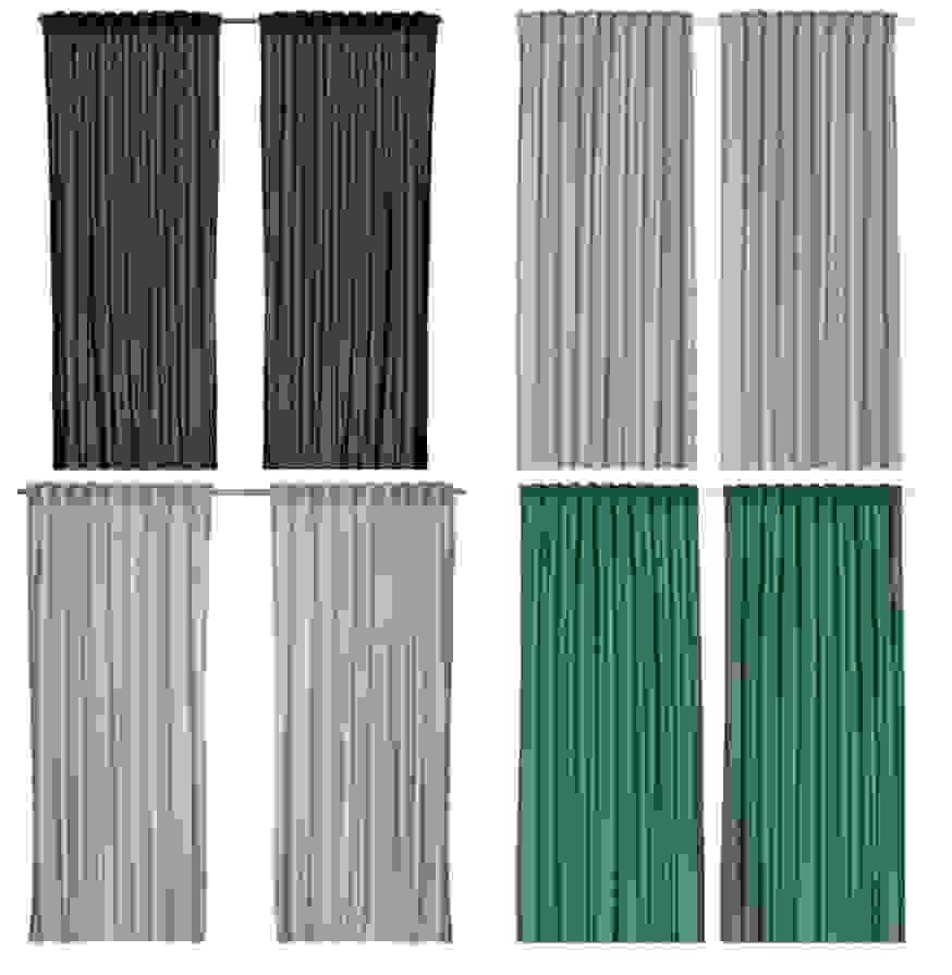 Faszinierend Vorhänge 300 Cm Lang Ikea Vivan 2X Gardinen Schal von Verdunkelungsvorhang 300 Cm Lang Bild