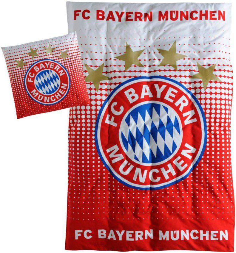 Fc Bayern München 17267 4045468173770 Biberbettwäsche Logo von Bayern München Bettwäsche Biber Bild