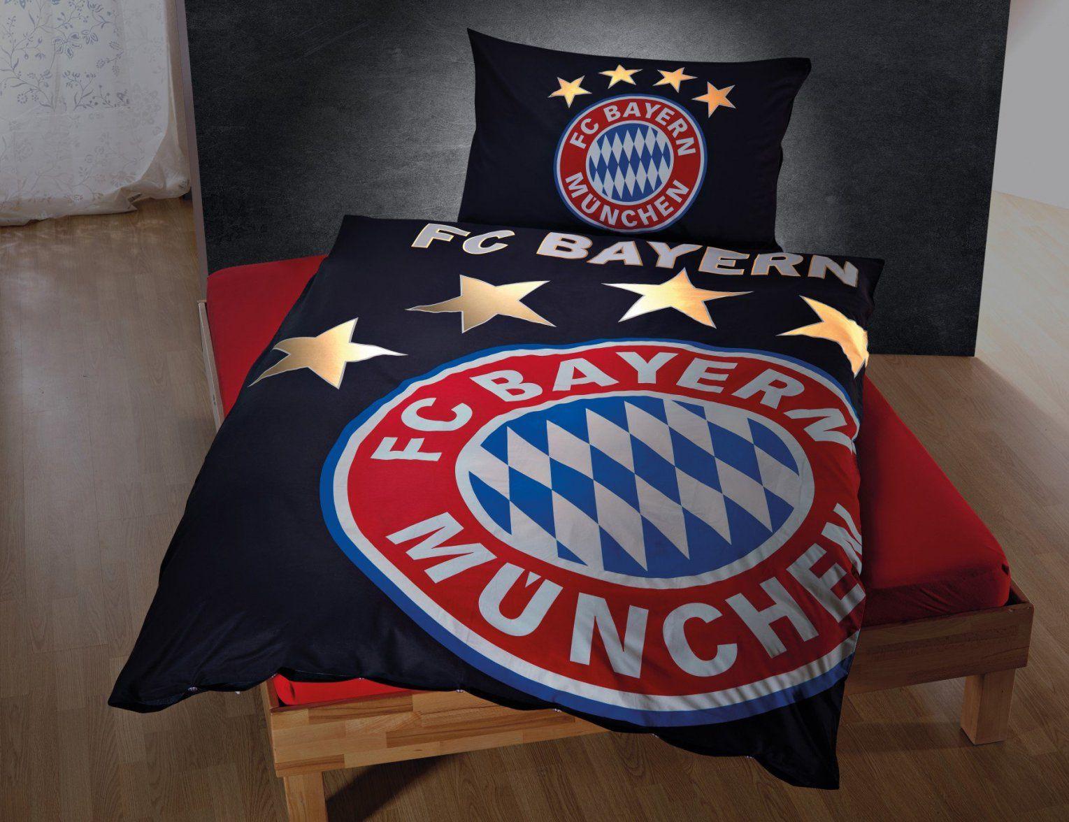 Fc Bayern München Bettwäsche Leuchtet Im Dunkeln Günstig ⋆ Lehner von Bayern Bettwäsche Günstig Bild