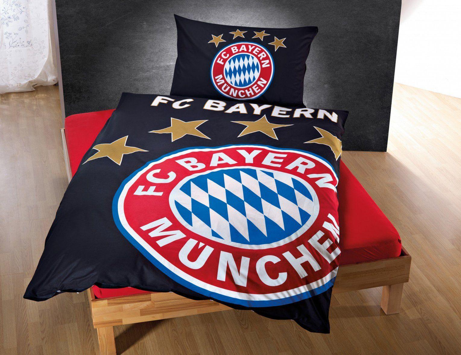 Fc Bayern München Bettwäsche Leuchtet Im Dunkeln Günstig ⋆ Lehner von Bayern München Bettwäsche Real Bild