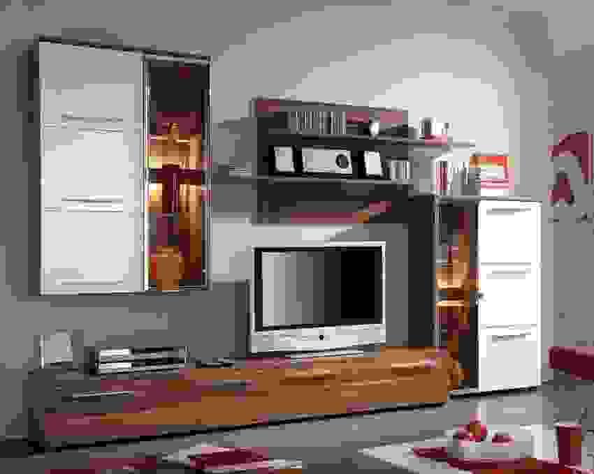 Fehler Ist Das Beste Von Design Von Wohnwand Nussbaum Weiß  Moderne von Wohnwand Nussbaum Weiß Hochglanz Photo