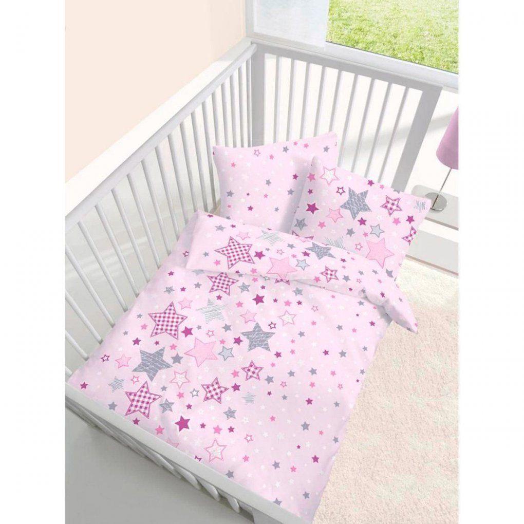 Fein Biber Baby Bettwäsche Sterne Stars Rosa Lila Grau  Größe 40X60 von Kinderbettwäsche Biber 100X135 Bild