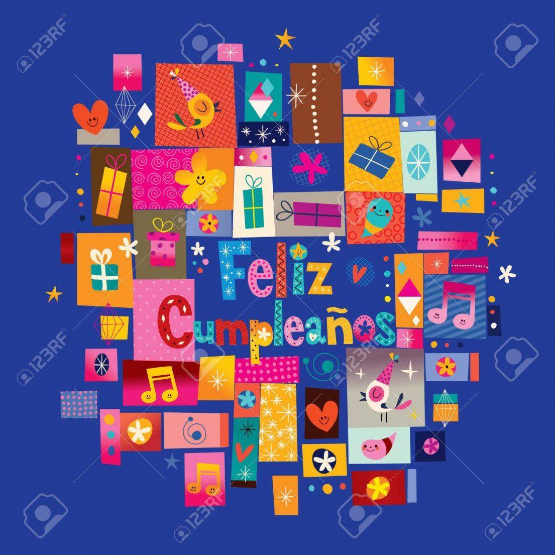 Feliz Cumpleanos  Alles Gute Zum Geburtstag Auf Spanisch Grußkarte von Alles Gute Zum Geburtstag Auf Spanisch Photo