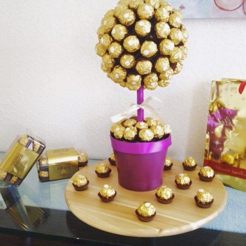 Ferrero Rocher Baum Mit  Kleines Glitzerbaum Selber von Rocher Baum Selber Machen Photo