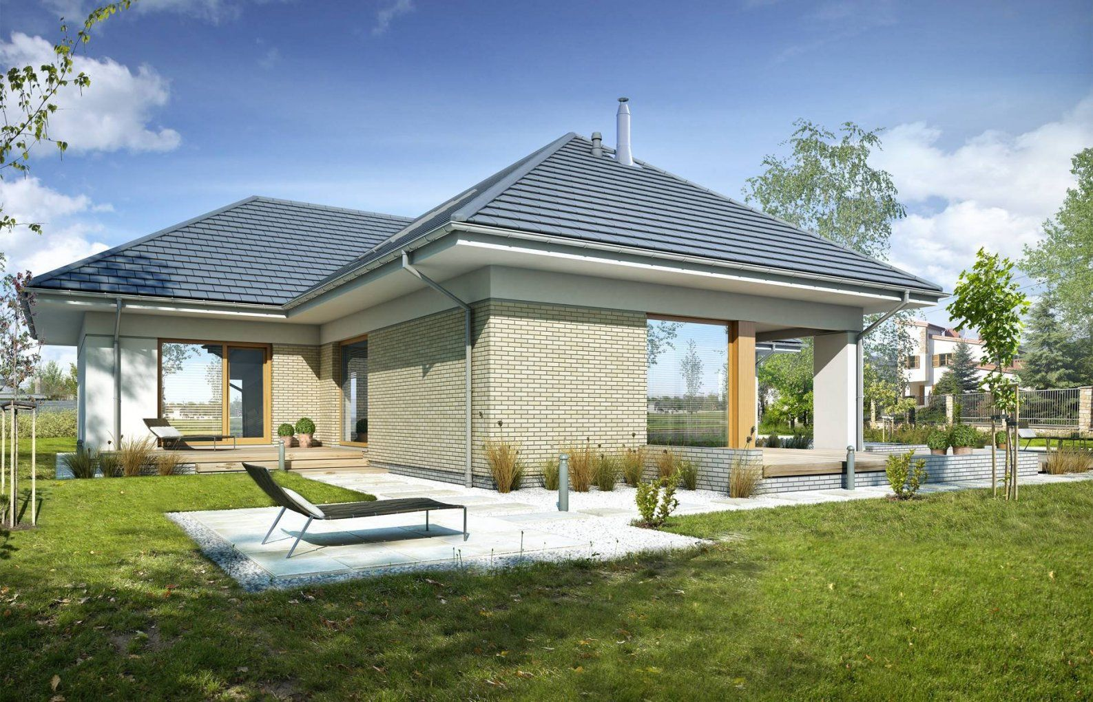 Fertighaus Heban Aus Polen  Bungalow Dachgeschoss von Schlüsselfertige Häuser Aus Polen Photo