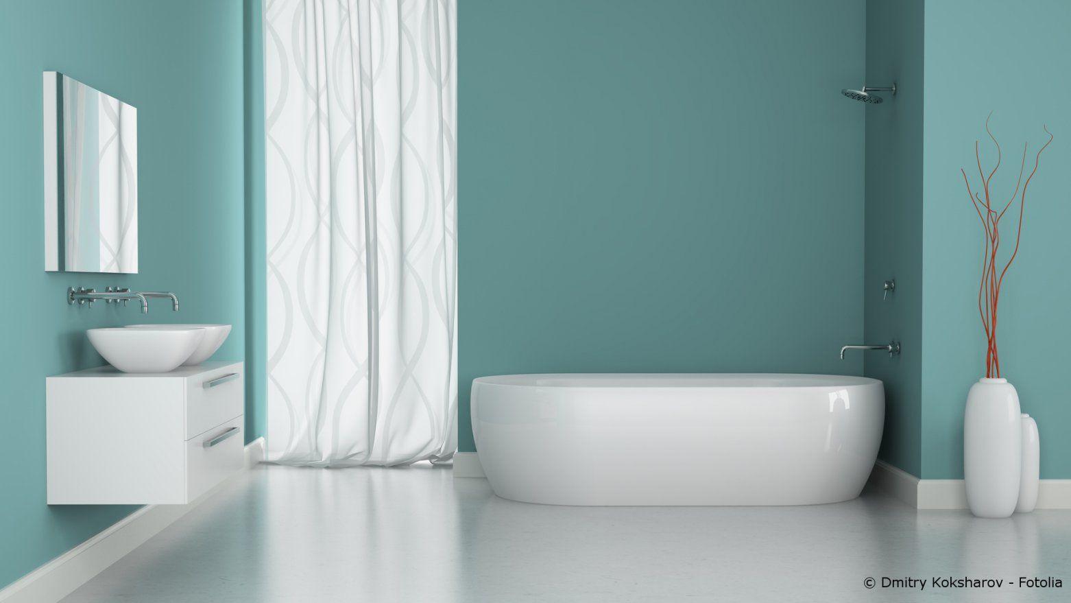 Feuchtigkeitsschutz Im Bad  Streichen Oder Tapezieren  Maler Und von Badezimmer Tapete Oder Putz Bild