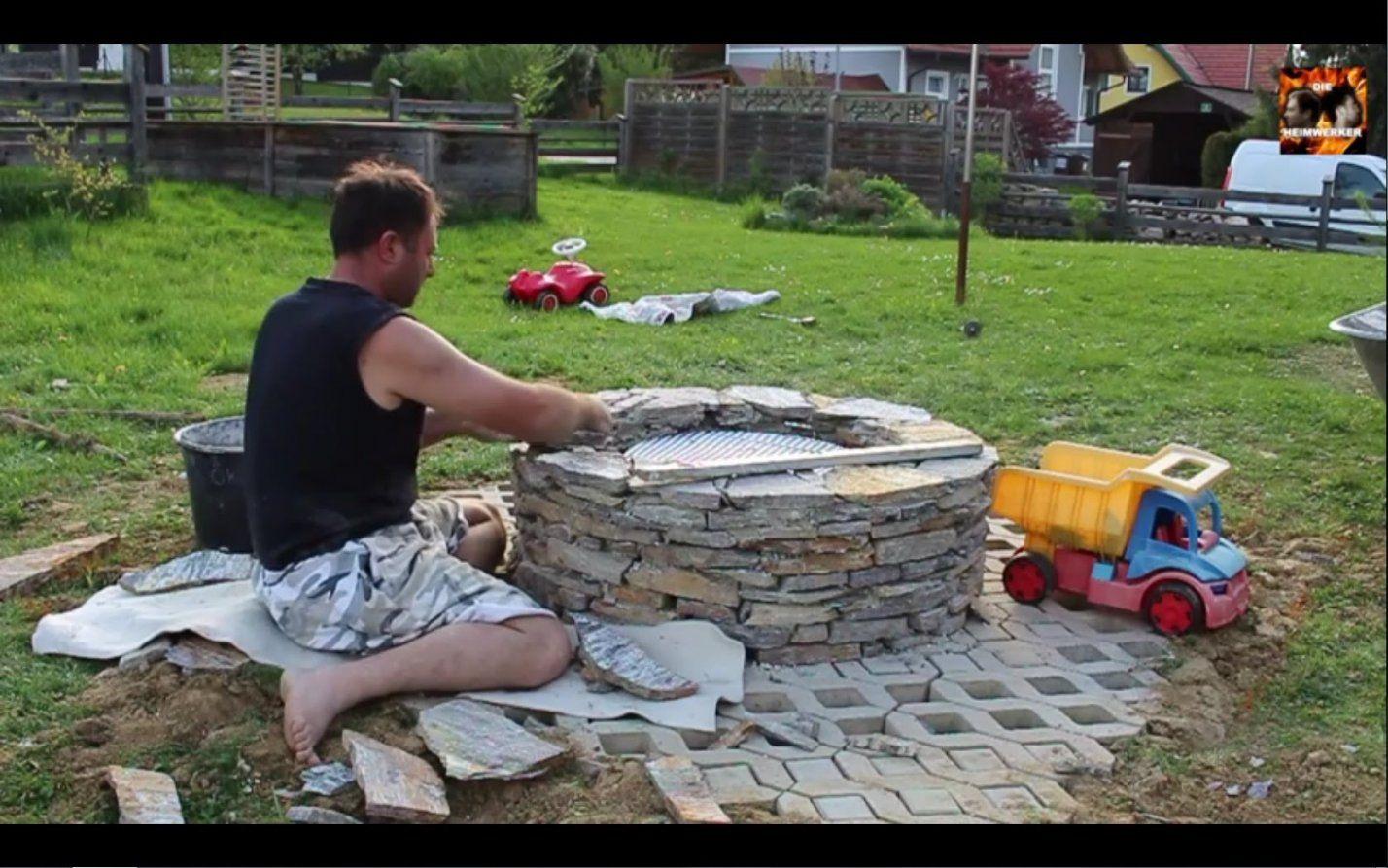 Feuerstelle Selber Bauen  Youtube von Feuerstelle Im Garten Anlegen Photo