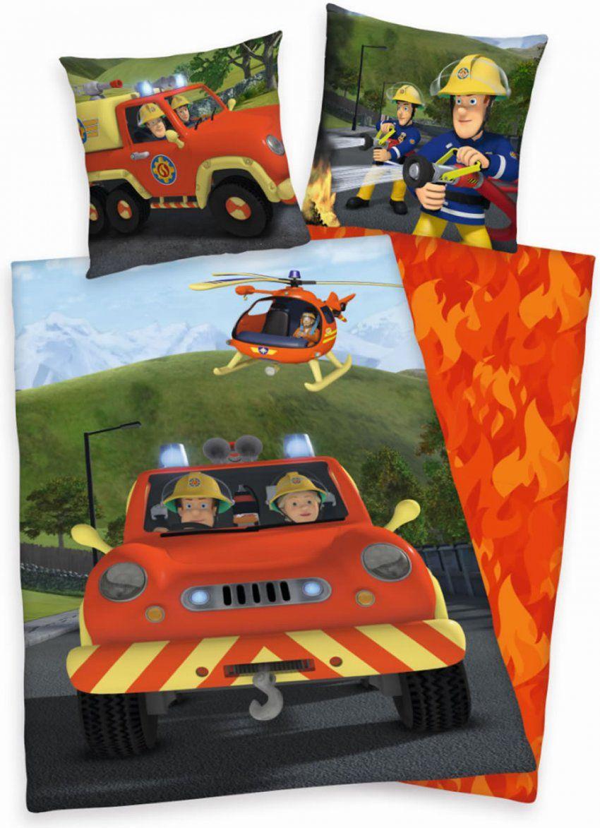Feuerwehrmann Sam Flanellbettwäsche Bei Papiton Bestellen von Feuerwehrmann Sam Bettwäsche Flanell Bild