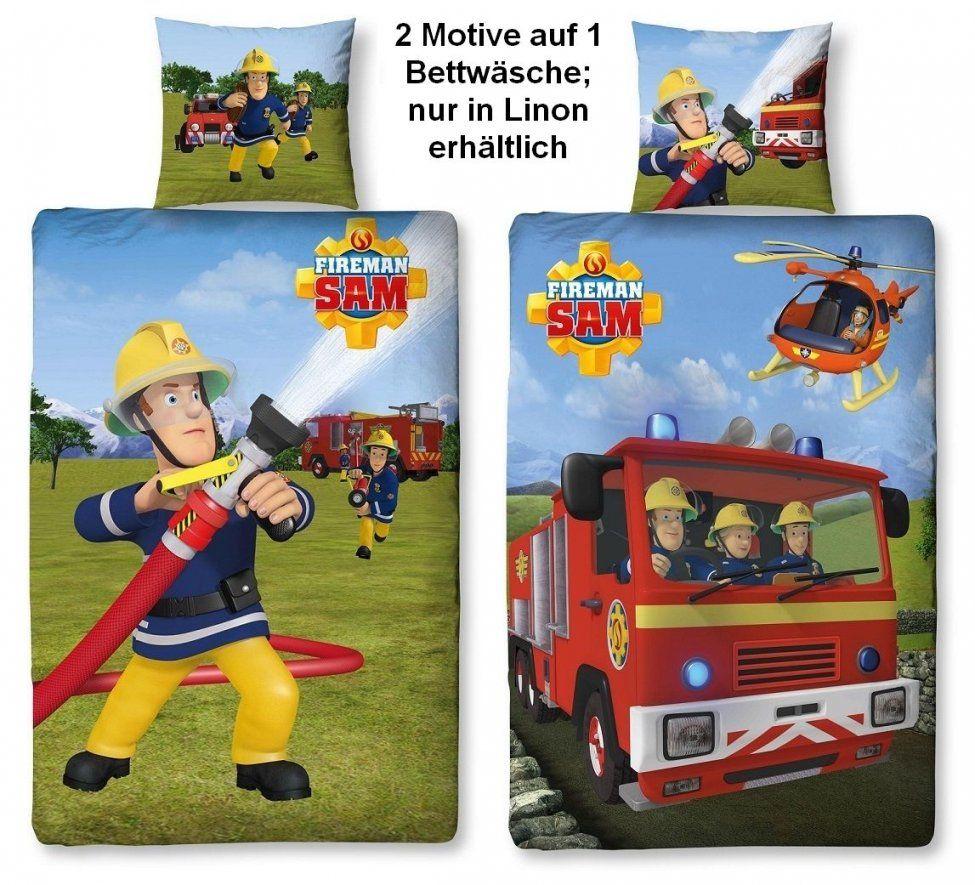 Feuerwehrmann Sam Wende Bettwäsche Set Linon Od Biberflanell von Feuerwehrmann Sam Bettwäsche Flanell Bild