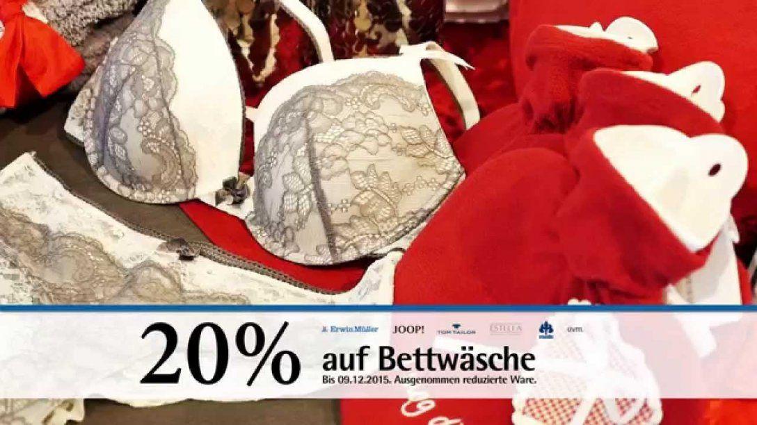 Filiale Erwin Müller Weihnachtsspot 2015  Bettwäsche  Youtube von Müller Bettwäsche Buttenwiesen Bild