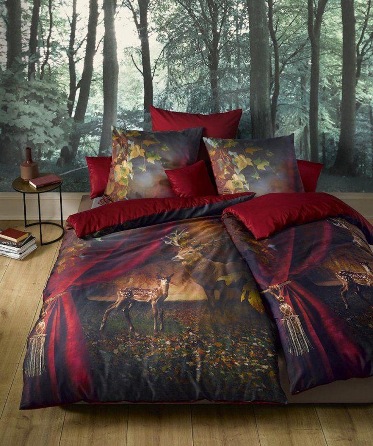 Fleuresse Bed Art S Mako Satin Bettwäsche Rubin 04  Boudoir von Weihnachts Bettwäsche 200X220 Bild