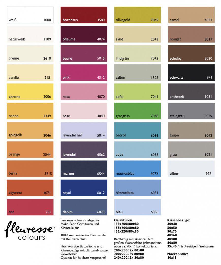 Fleuresse Colours  Mako Satin Uni Bettwäsche 135X20080X80  Mako von Biber Bettwäsche Einfarbig Bild
