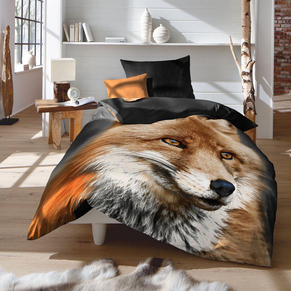 Fleuresse Feinbiber Bettwäsche Fuchs Günstig Online Kaufen Bei von Bettwäsche Mit Tiermotiv Bild