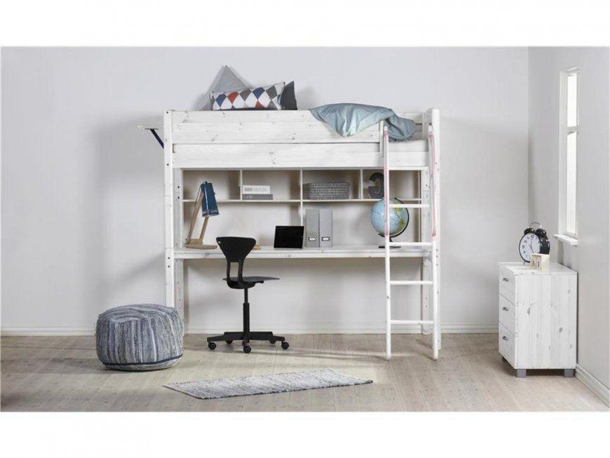 Flexa Basic Trendy Hochbett Weiß Mit Schreibtischplatte Regal von Hochbett Weiß Mit Schreibtisch Photo