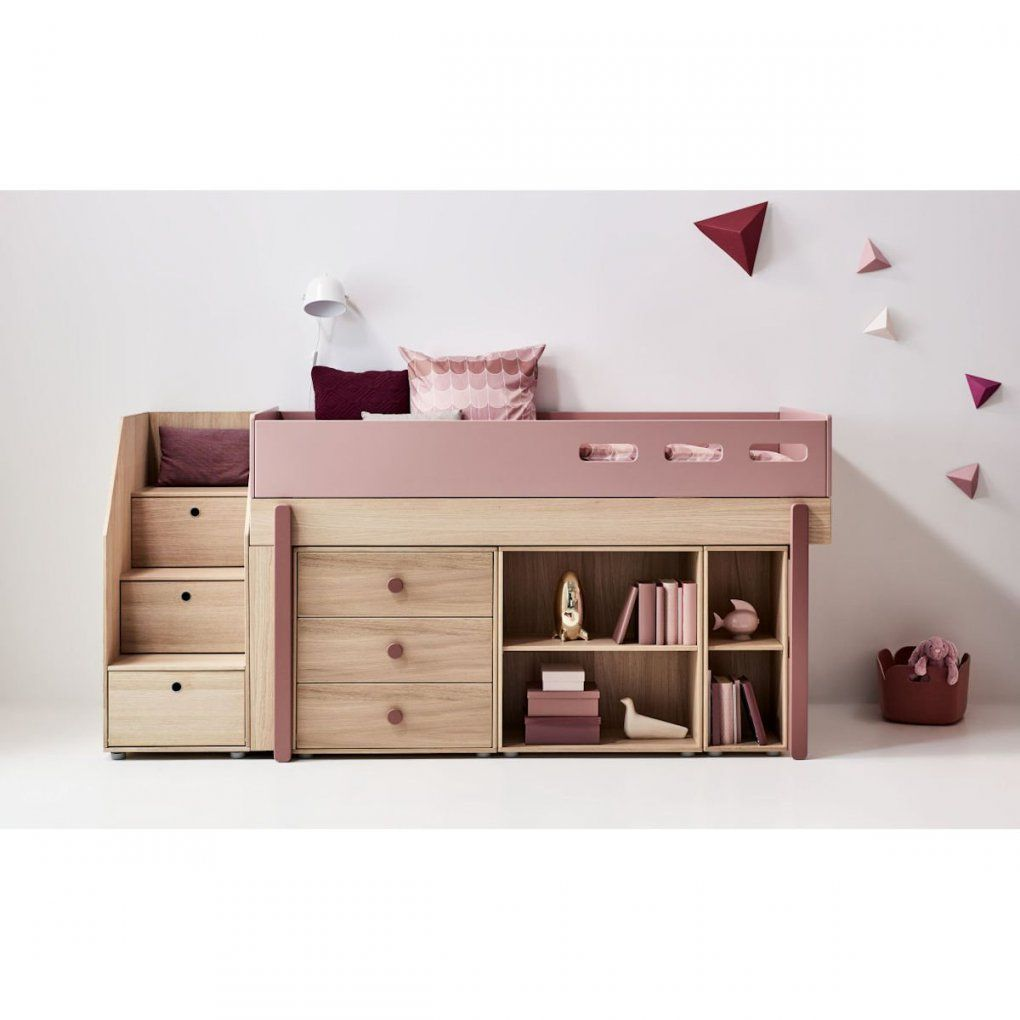 Flexa Popsicle Halbhohes Bett 90X200 Cherry  901076533  1295 € von Halbhohes Bett Mit Treppe Photo