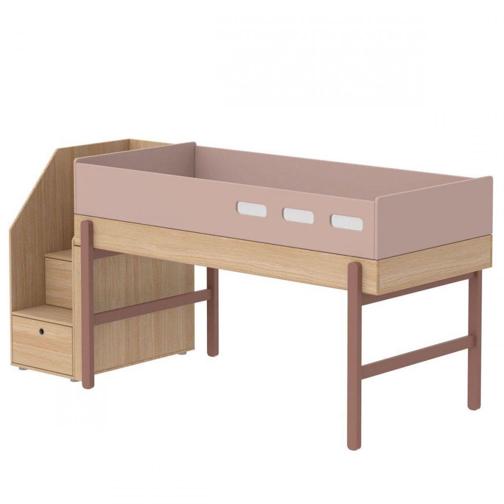 Flexa Popsicle Halbhohes Bett 90X200 Cherry  901076533  1295 € von Halbhohes Kinderbett Mit Treppe Bild