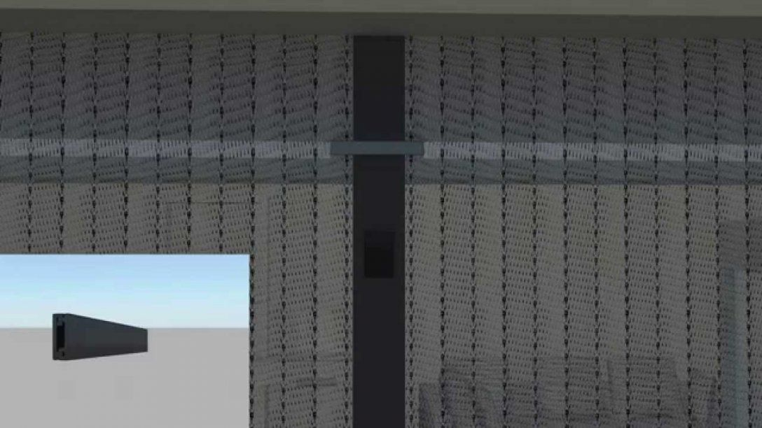 Fliegengitter Magnetvorhang Von Jarolift  Montage  Youtube von Insektenschutzvorhang Für Türen Mit Magnet Bild