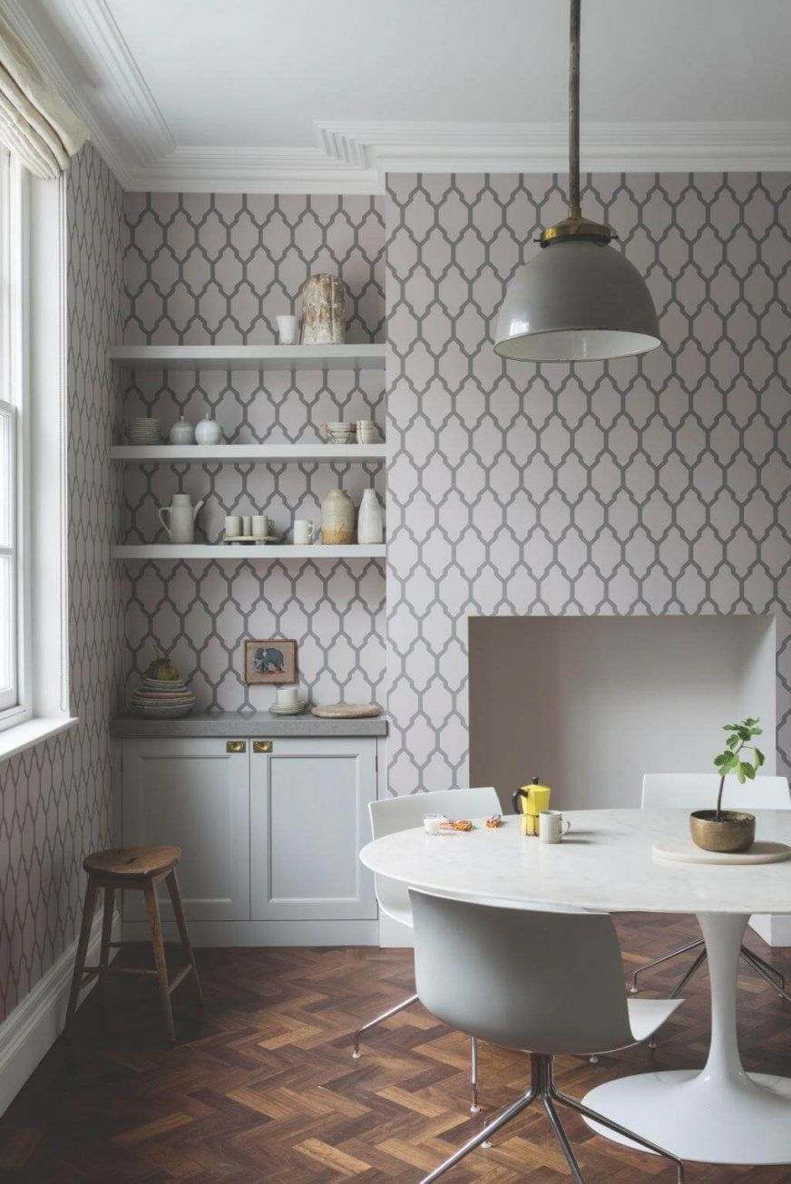 Fliesen Tapete Küche  Namaste Media von Tapeten Für Küche Und Esszimmer Bild