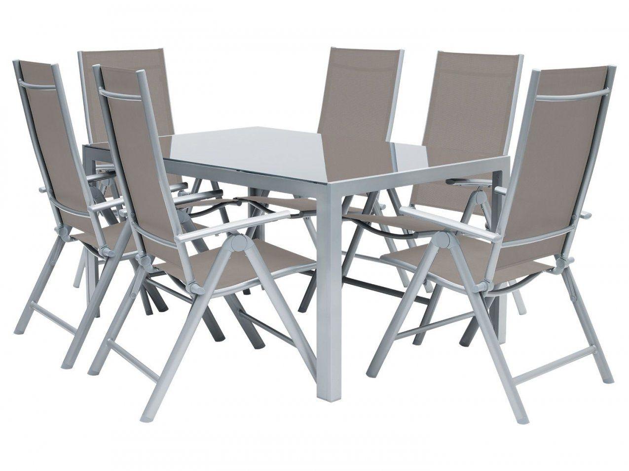 Florabest® Alugartenmöbelset 7Teilig Aluglastisch Mit von Gartenmöbel Set 9 Teilig Alu Bild