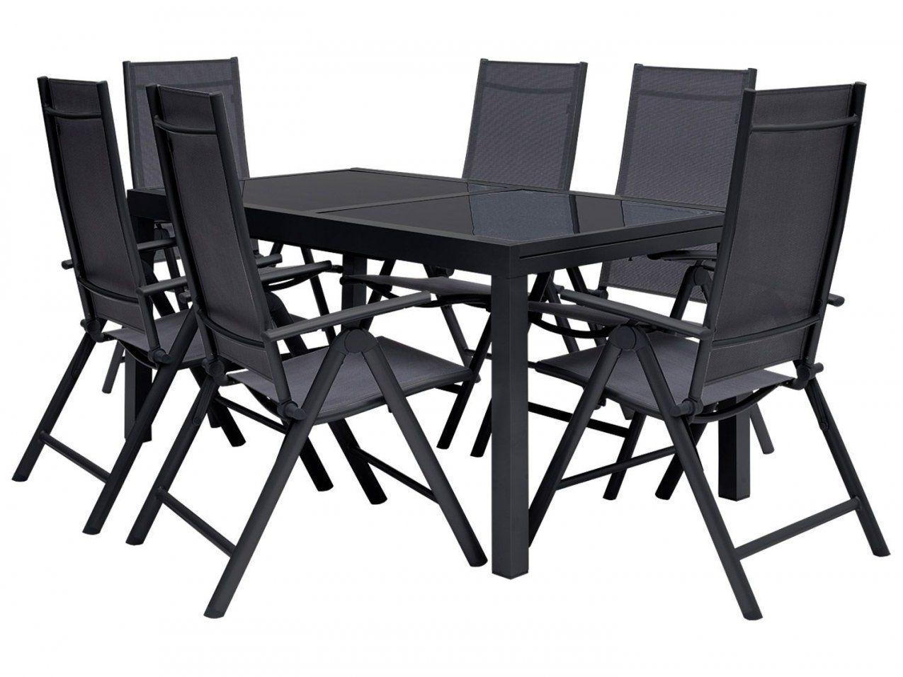 Florabest® Alugartenmöbelset 7Teilig Gartentisch Ausziehbar Mit von Gartenmöbel Set 9 Teilig Alu Bild