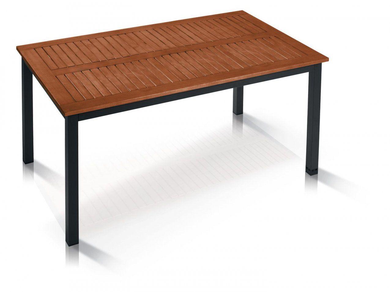 Florabest® Alugartentisch Mit Holzplatte Braun  Lidl Deutschland von Alu Gartentisch Mit Holzplatte Photo