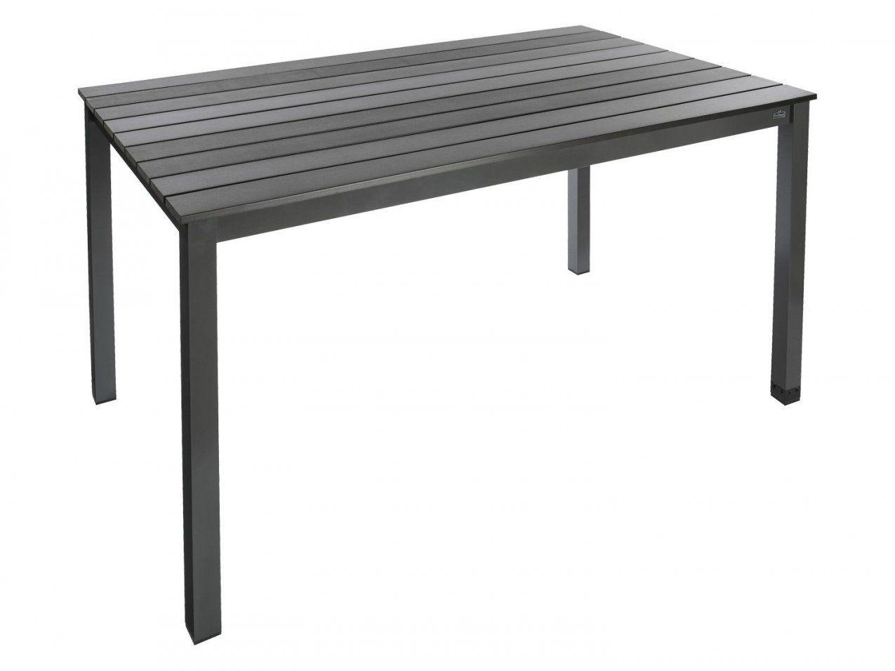 Florabest® Alugartentisch Mit Holzplatte Grau  Lidl Deutschland von Alu Gartentisch Mit Holzplatte Bild