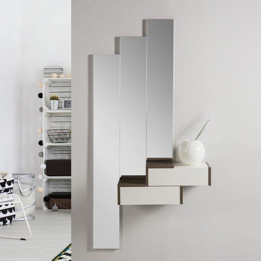 Flur Spiegelset Und Hängekonsole 4Tlg Snoba  Wohnen von Spiegel Mit Konsole Modern Photo