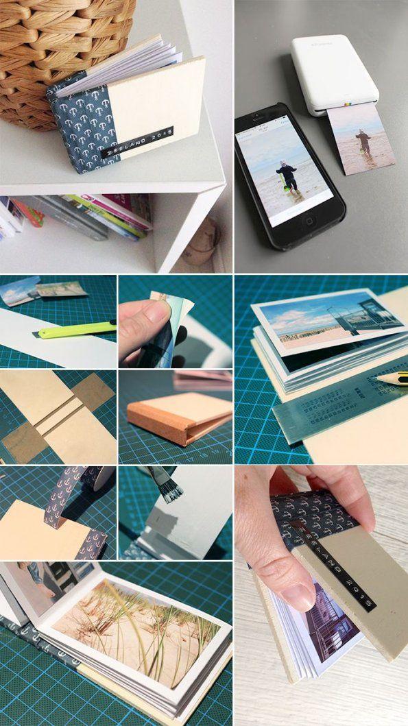 Fotobuch Mit Dem Polaroid Zip (Gingered Things)  Fotoalbum Selber von Kleines Fotoalbum Selber Basteln Bild
