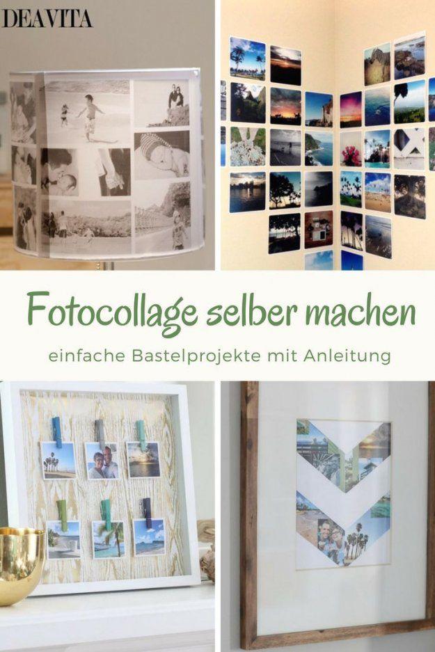 Fotos fotocollage im riesenbilderrahmen f r sch ne - Collage auf leinwand basteln ...