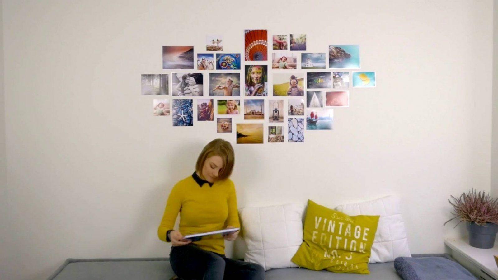 Fotocollage Für Die Wand Selber Machen  Youtube von Collage Auf Leinwand Selber Machen Bild