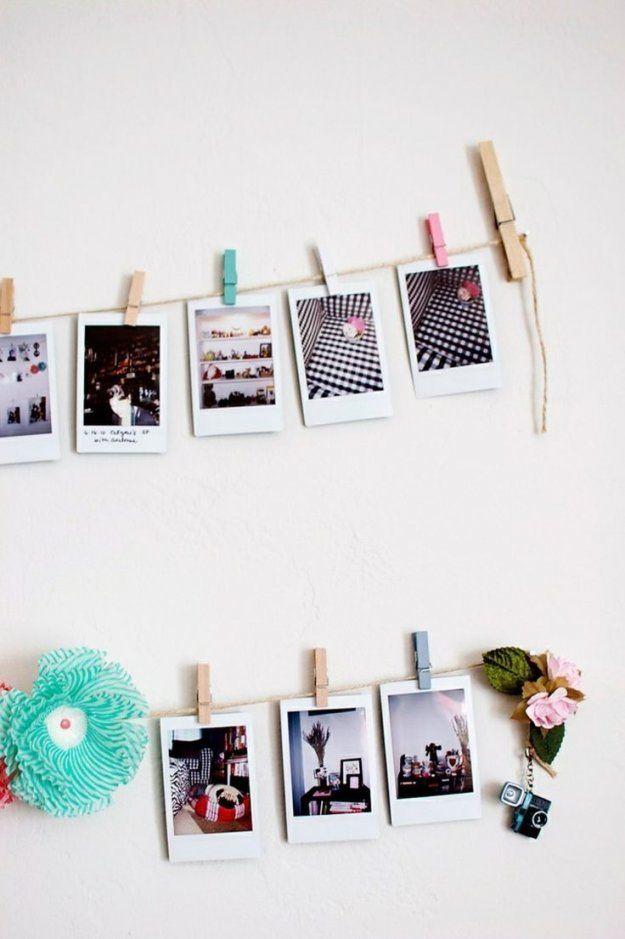 Fotos An Garn Festklemmen Und Die Wand Dekorieren  Ideen Für Die von Bilder An Die Wand Photo