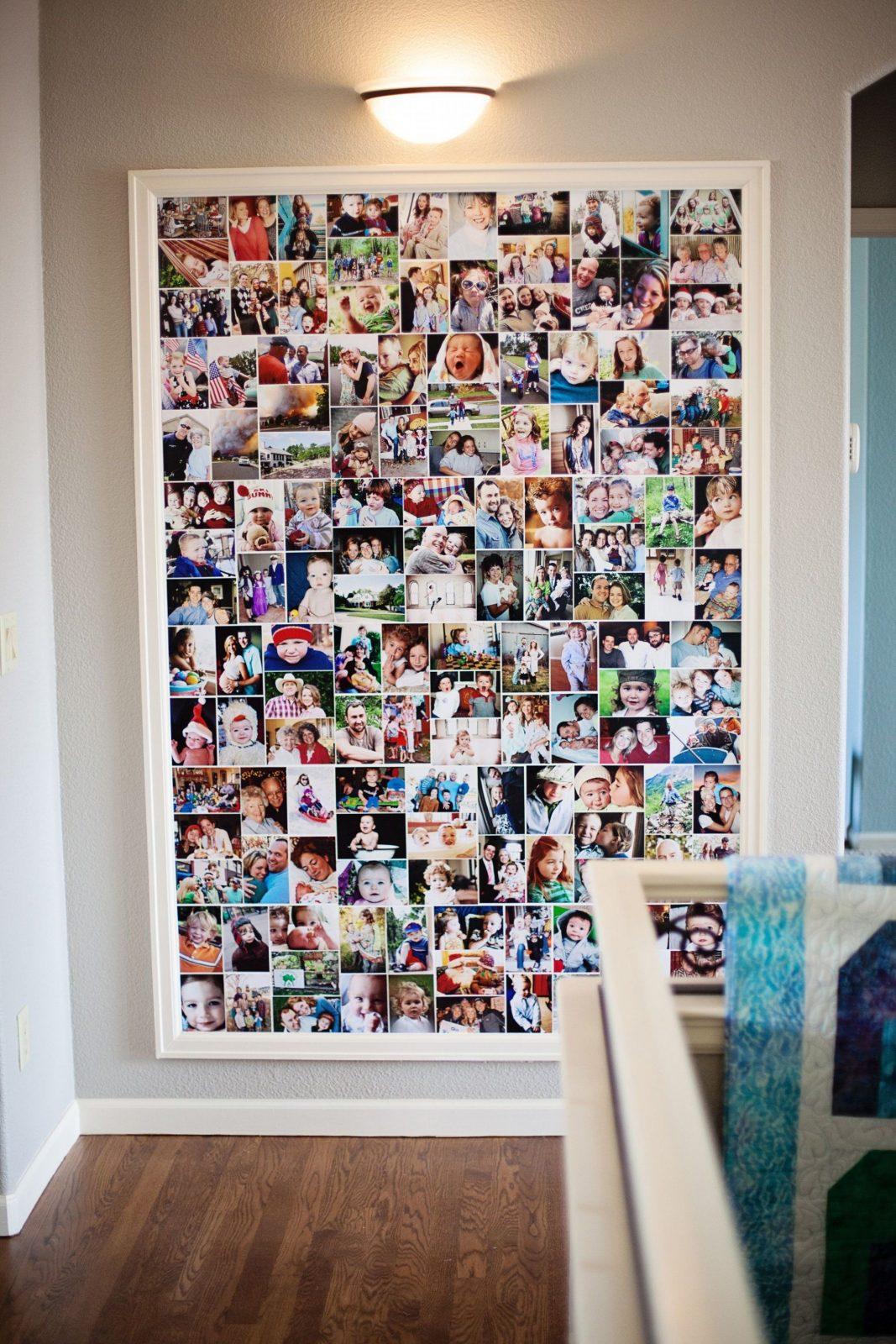 Fotos Fotocollage Im Riesenbilderrahmen Für Schöne Erinnerungen von Fotocollage Auf Leinwand Selber Basteln Bild