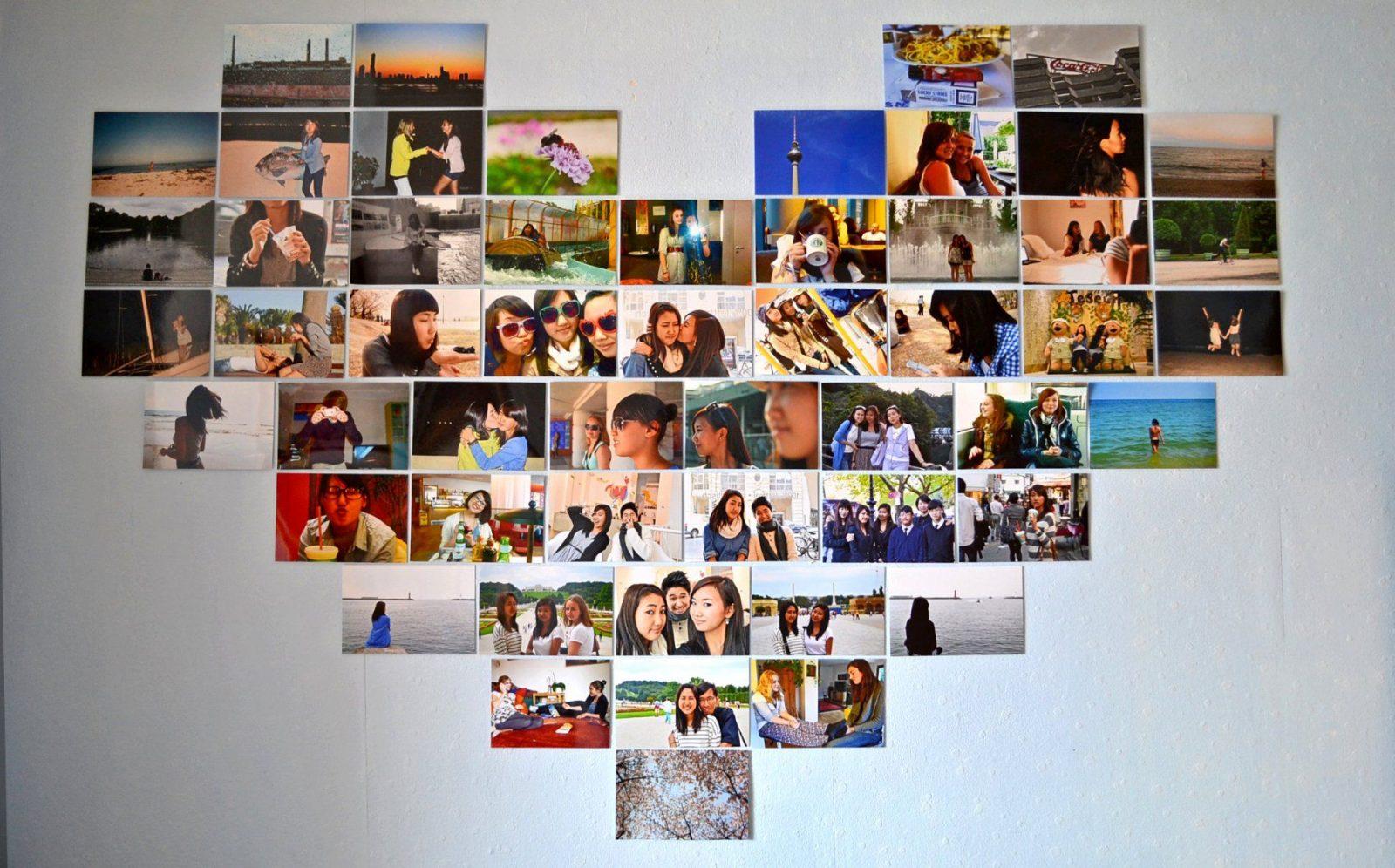 Fotowand ideen selber machen great m fotowand ideen ohne with fotowand ideen selber machen - Fotowand herz ...