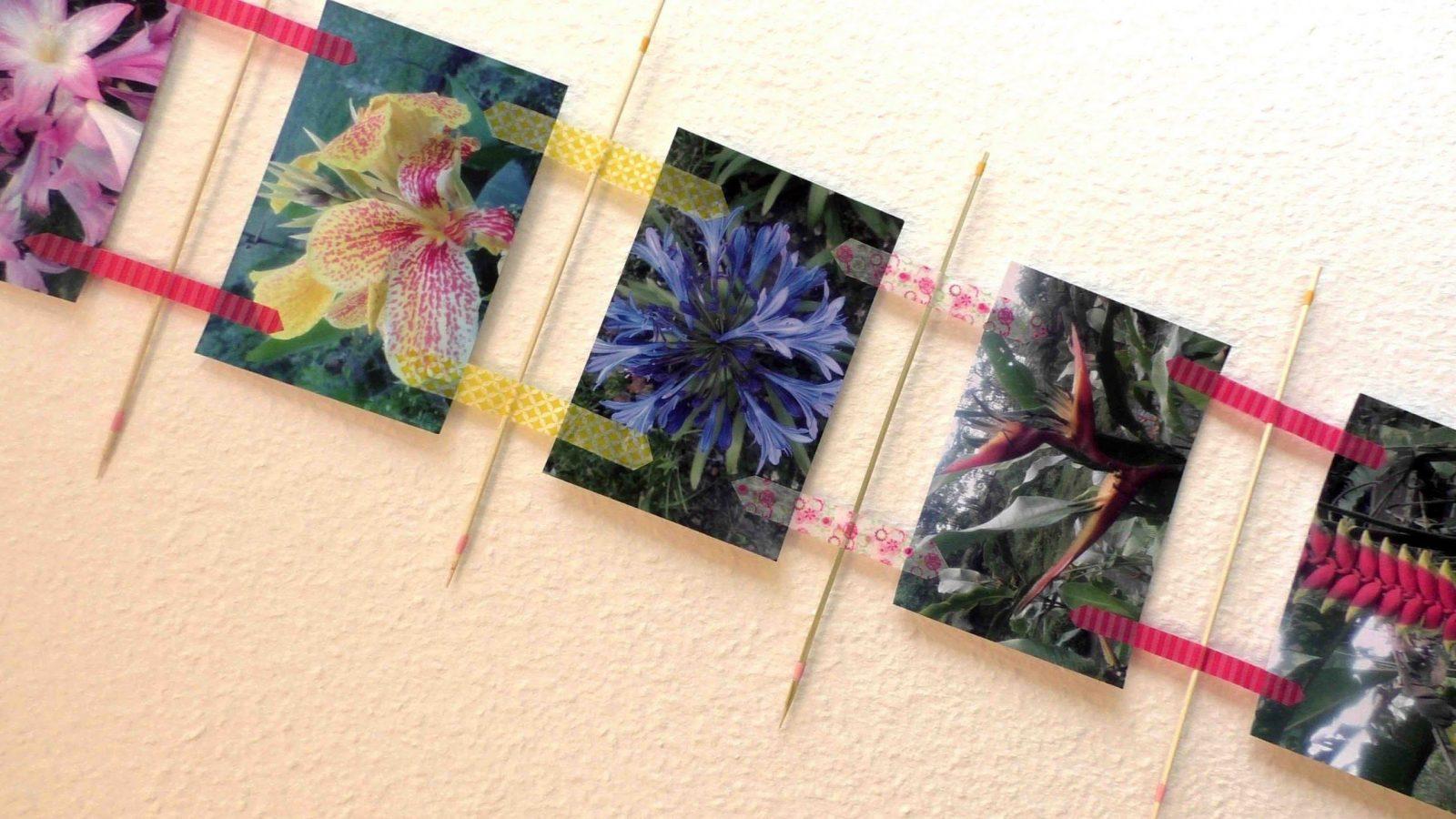 Fotowand Selber Machen Diy Fotowand Mit Fotos Erinnerungen Washi von Collage Auf Leinwand Selber Machen Bild