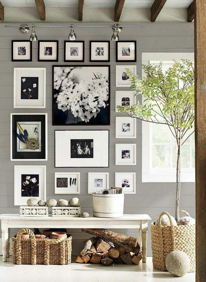 Fotowand Zu Hause Gestalten Tipps Und 25 Kreative Ideen  Fotowand von Bilderrahmen Collage Selber Machen Anleitung Bild