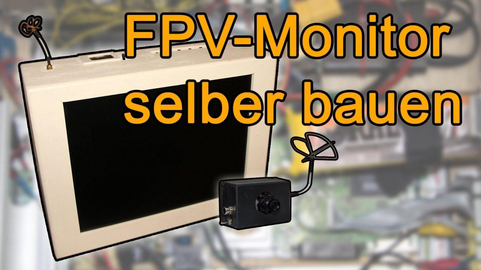 Fpv Monitor Selber Bauen  Tragbar  Tutorial  Youtube von Fpv Brille Selber Bauen Bild