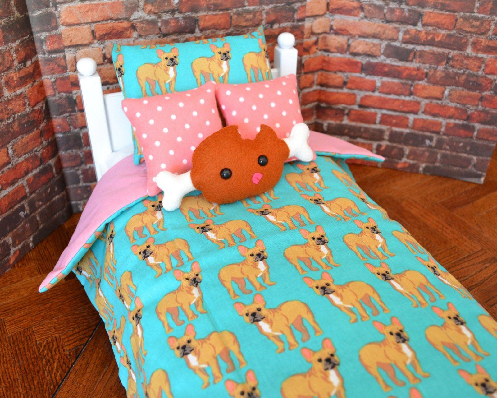 Französische Bulldoggepuppe Bettwäsche Bettwäsche von Bettwäsche Französische Bulldogge Photo