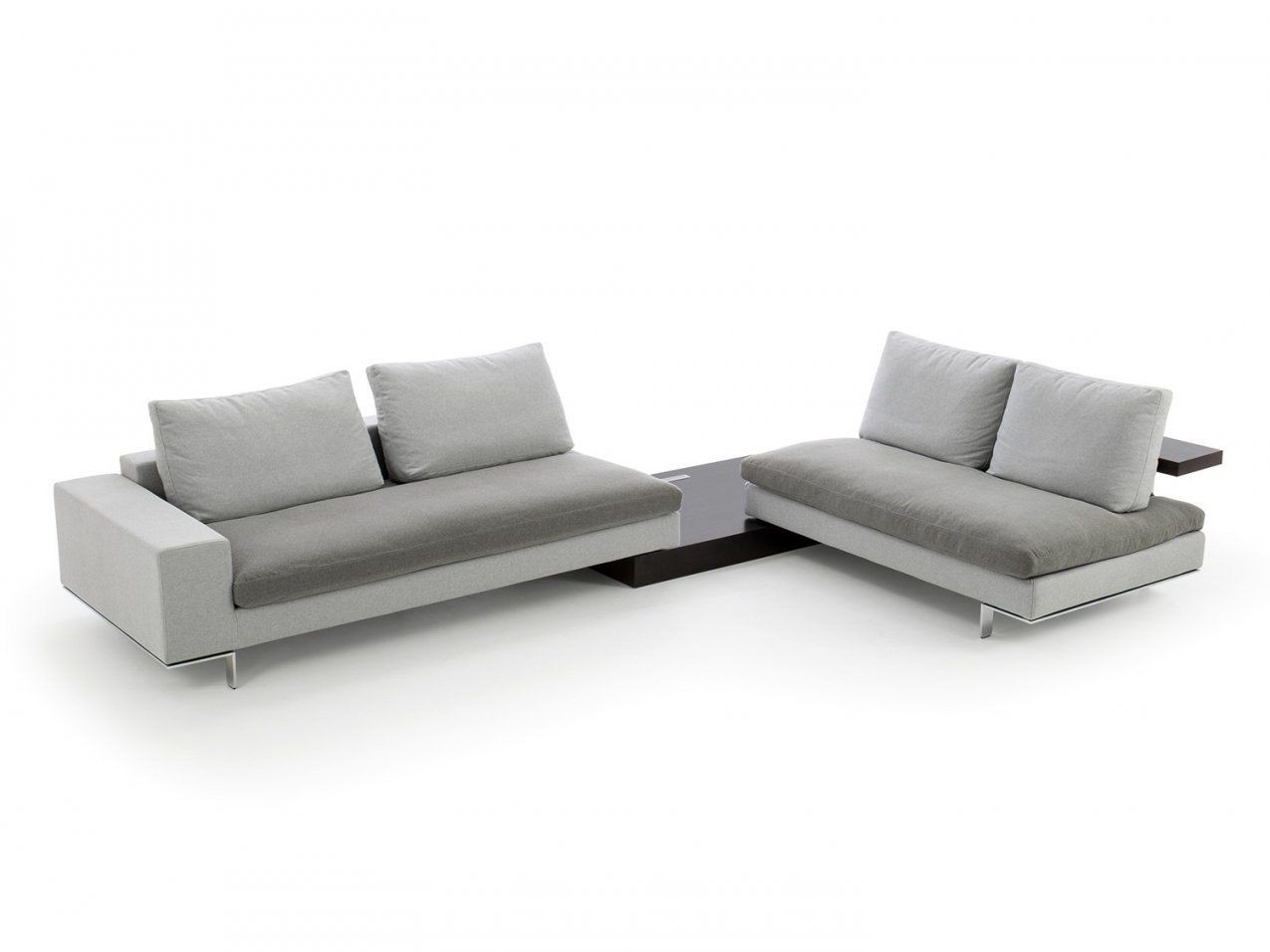 Freesofa Modulares Sofa Mit Integriertem Tisch  Homeplaneur von Sofa Mit Integriertem Tisch Bild