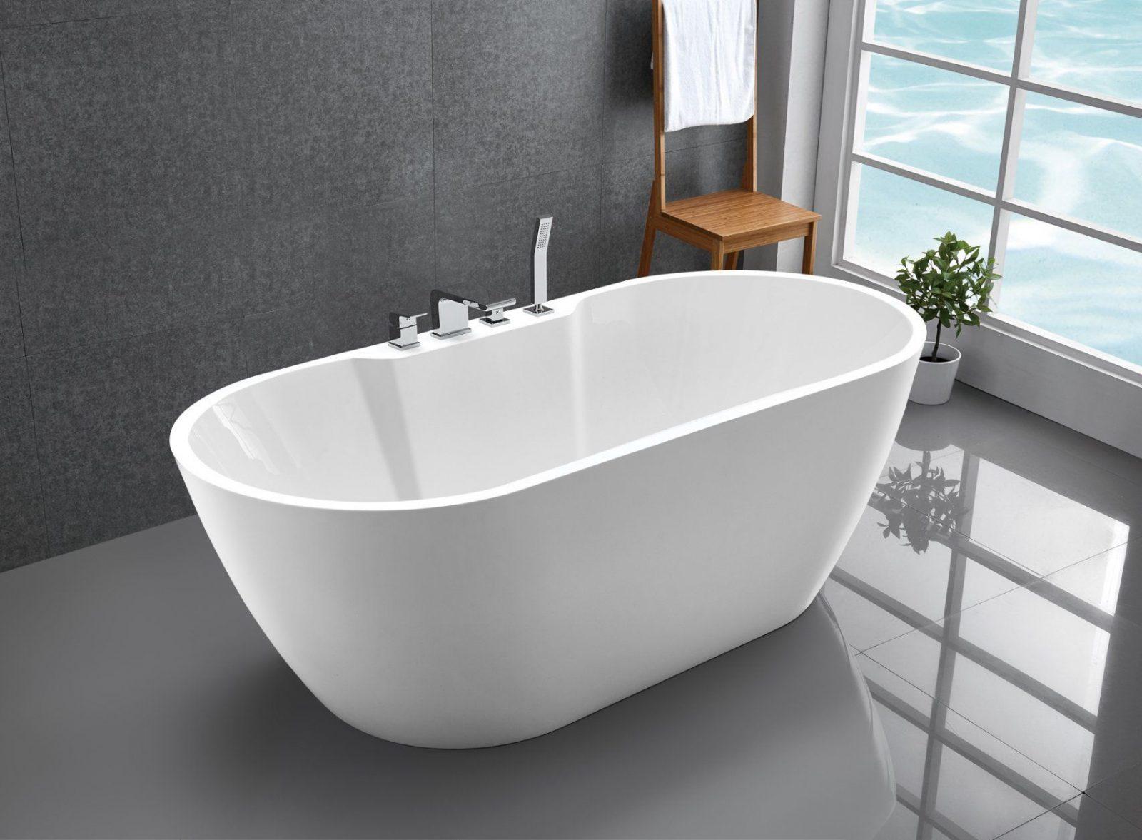 Freistehende Badewanne Jazz Plus Acryl Weiß  170 X 80 Cm Badewelt von Freistehende Badewanne Mineralguss Oder Acryl Photo
